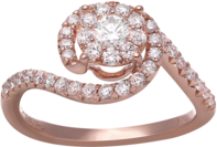 rose gold diamond ring fashion jewelry la quinta