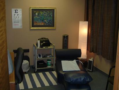AGLA Chiropractic Blue Adjustment Room