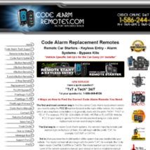Code Alarm Replacement Remotes and Remote Starter Kits