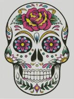 Cross Stitch Chart of Sugar Skull No 04