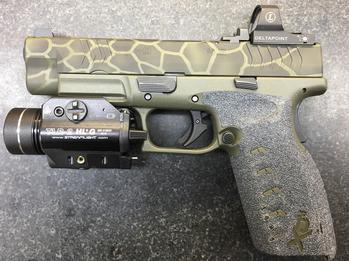 Guardian Arsenal Cerakote OD Green and Graphite Black Kryptek Camo Pattern