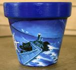 Blue Moon Sailor Flower Pot