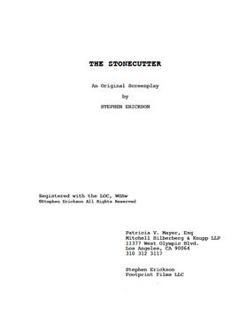 THE STONECUTTER screenplay