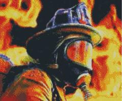Cross Stitch Chart of Firefighter in BA Mask