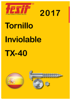 Tornillo inviolable FESIT