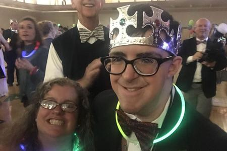 Girl with downs syndrome being crowned prom queen