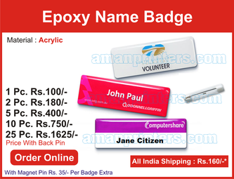 name badges, name plates online india, name badge india,