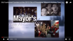 "The Old Fashioned Carolers at the 2013 City of Pasadena ""Mayor's Holiday Tree Lighting"" ceremony"