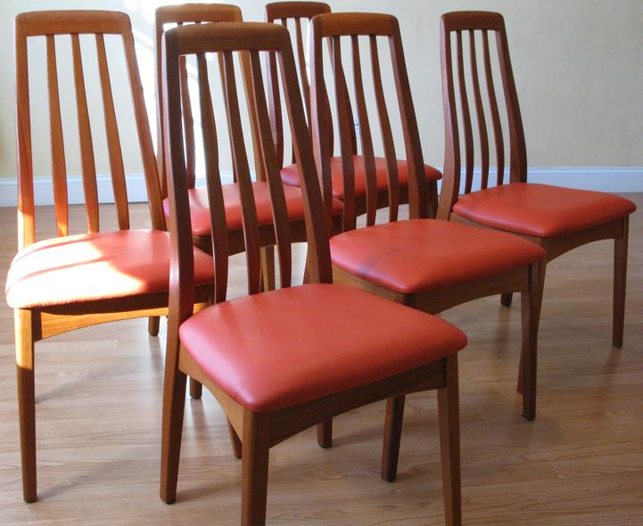 15082 Benny Linden Hight Back Teak Dining Chairs