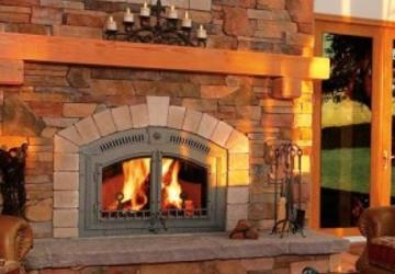 A fireplace that had chimney installation services in Meadville, PA