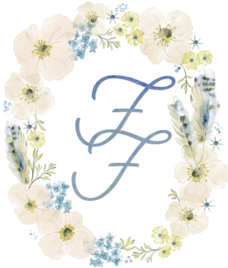 Flawless Fetes Oval Floral Logo