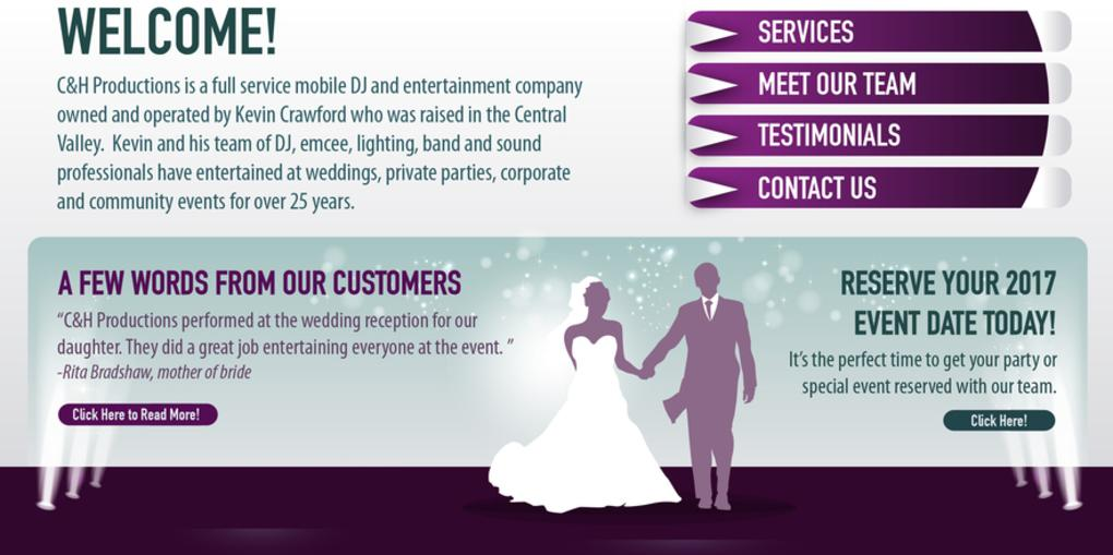 75332197 C&H Productions - Central Valley's award-winning wedding and event ...