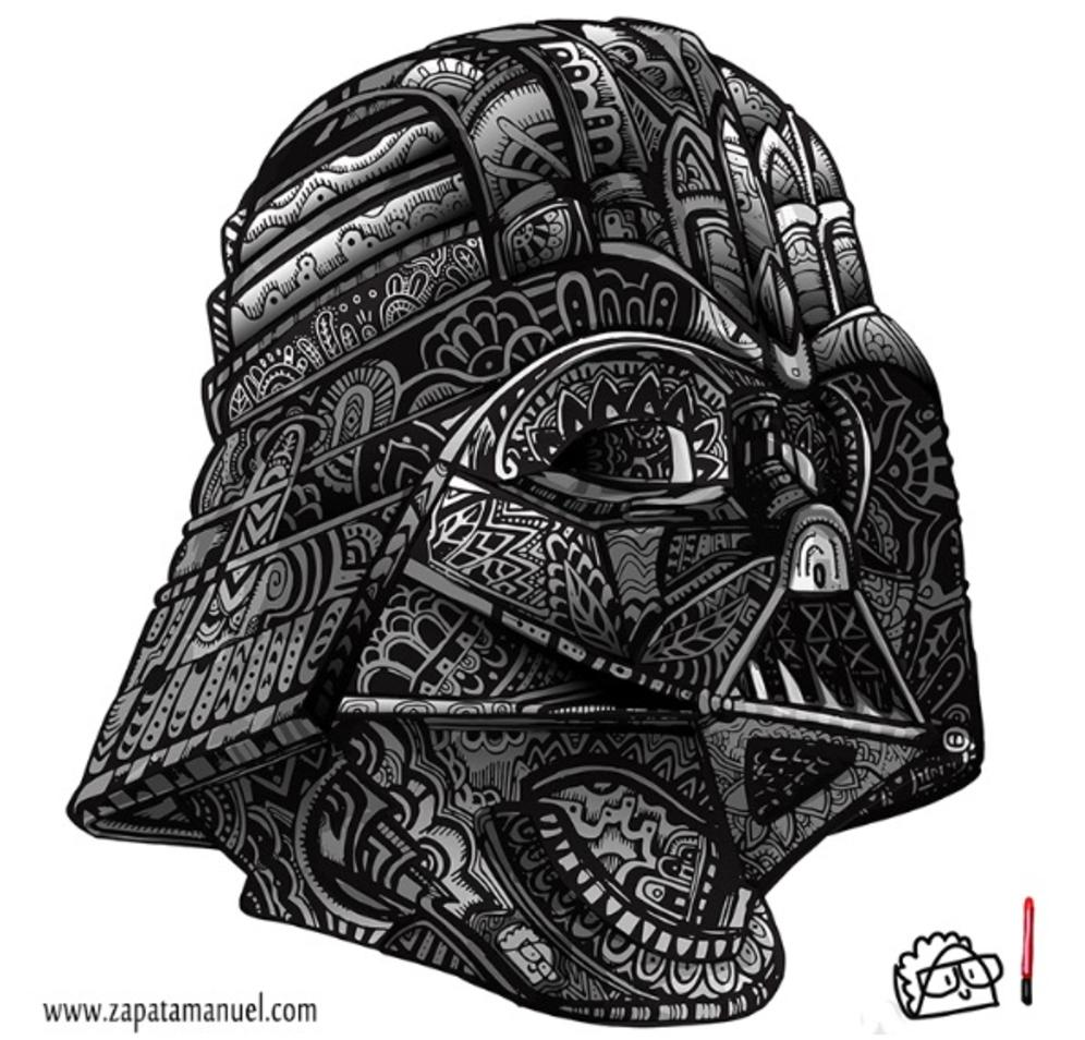 Taco Design - Vader Zentangle - Darth Vader