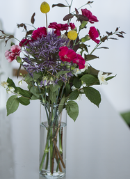 Mixed Wild Bouquet in vase | The Little Flowershop