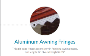 Aluminum Awning For Homes With Fringes