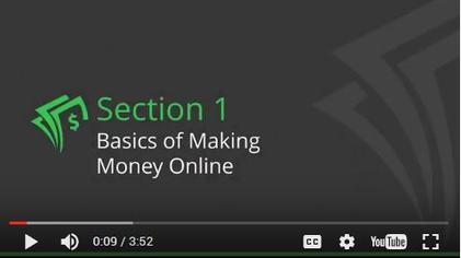 Make Money Online Video Training, in this section will talk about what's making money online all about?