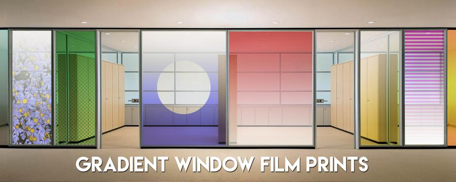 Solar Graphics gradient window film color Einstein John Lennon color image picture