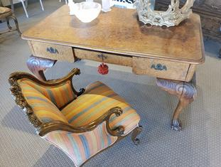 antique desk and chair, historical provenance