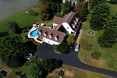Cook's Hope Easton, MD waterfront for Sale aerial drone photo by Chesapeake pro Photo