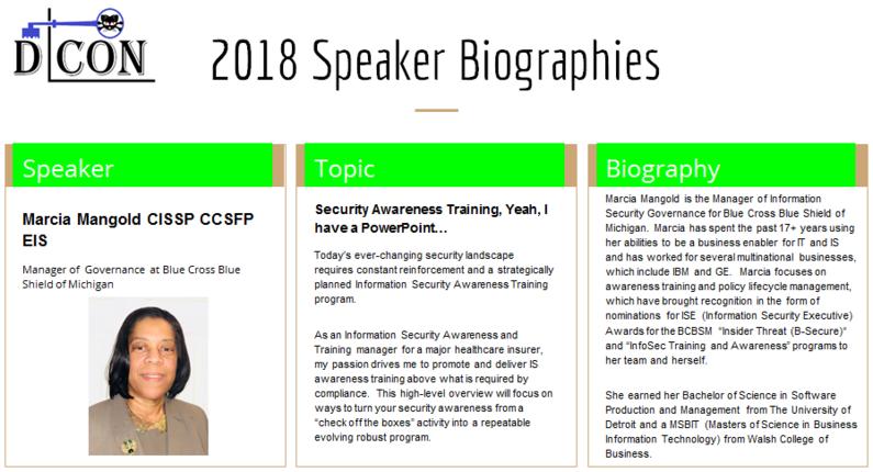 DCON 2018 Speakers and Topics
