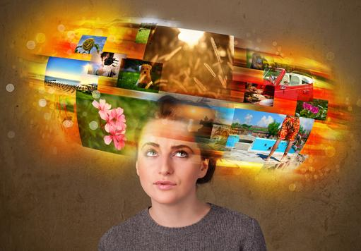 Woman stressed too many photos