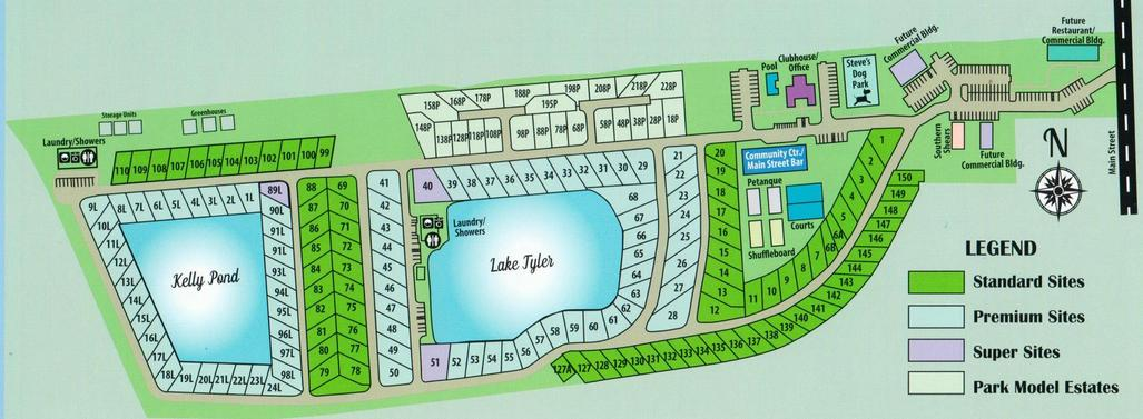 Oak Grove RV Resort - Site Plan