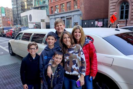Family in New York City Limousine tour