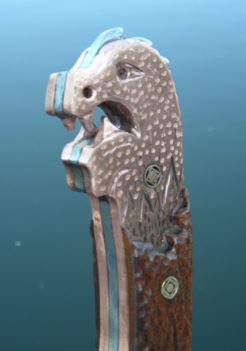 DIY Viking Dragon Head Shipwreck Knife. www.DIYeasycrafts.com