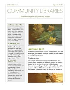 CELEBRATE LIBRARIES® FALL NEWS LETTER ISSUU