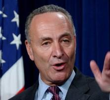 Senator Chuck Schumer protests to USA Today