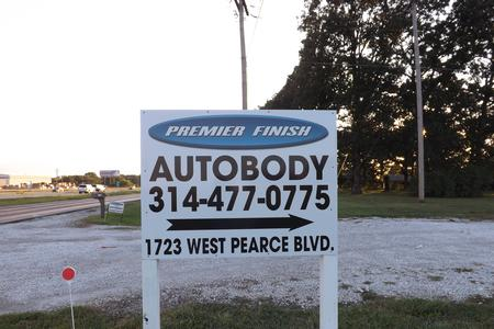 Sreet Sign at Premier Finish Autobody