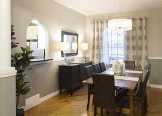 Formal Luxury Dining room staged by Beyond The Stage Homes