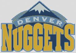 Denver Nuggetss Cross Stitch Chart Pattern