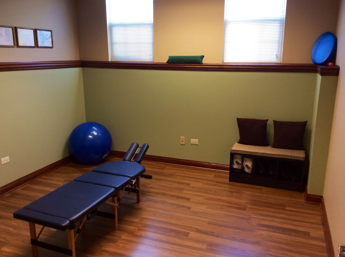 physical therapy and treatment room