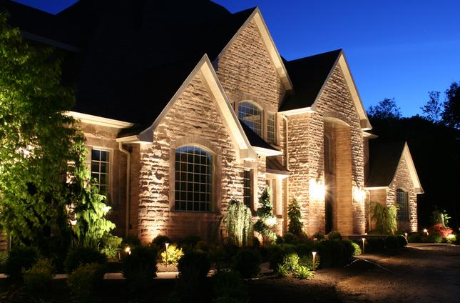 Landscape lighting installation in houston