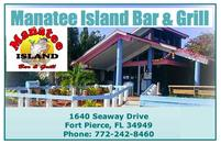Manatee Island Bar & Grill, Fort Pierce, Florida, Treasure Coast Naturists, Blind Creek Beach, nude beach, naturist beach, free beach, Hutchinson Island, restaurant, nudist, naturism