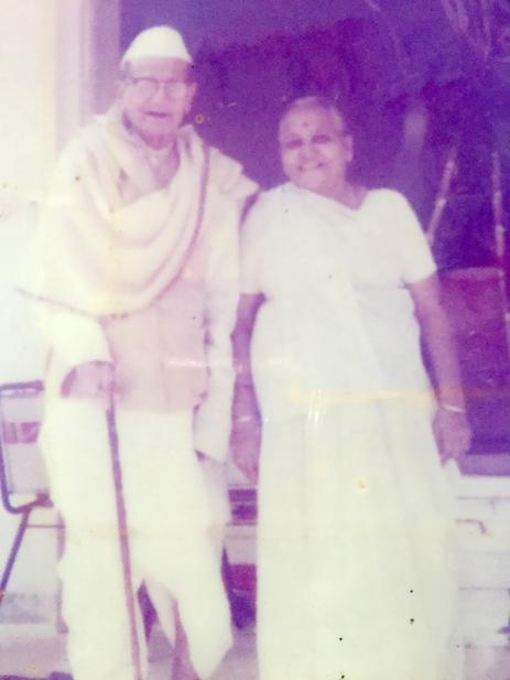 My maternal grandparents Chimanlal and Hiraben Shah
