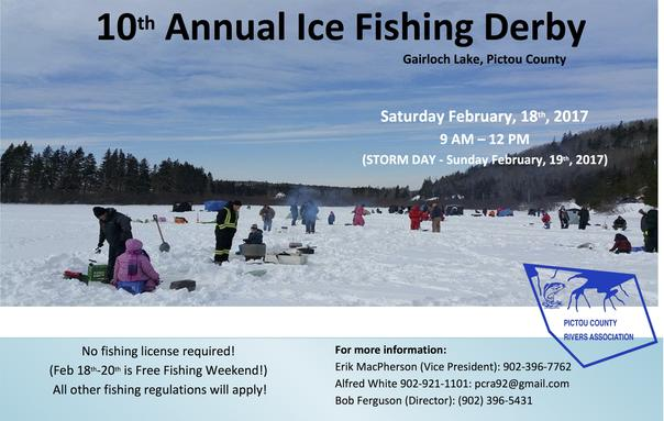 PCRA Ice Fishing Derby 2017