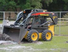 image of bobcat tractor at work
