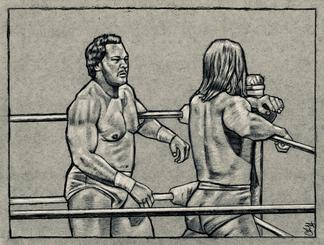 RON SIMMONS vs. RIC STEAMBOAT by Cliff Carson