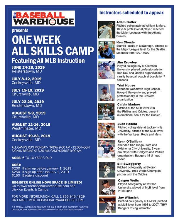 7/22 - 7/26 One Week All Skills Camp