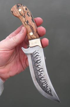 How to easily metal etching Flames on a Knife Blade. FREE step by step instructions. www.DIYeasycrafts.com