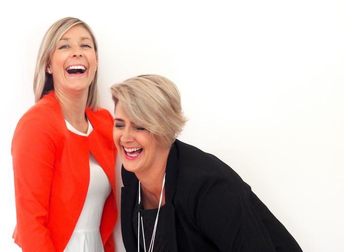 Bec Paterson and Sue Newberry photograph of laughing