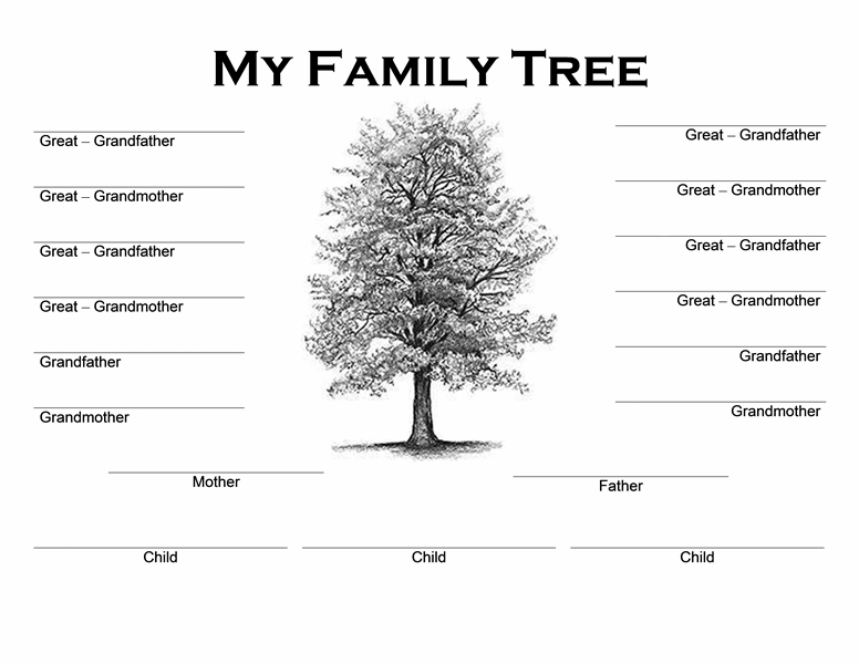 Family tree – Family Tree Template in Word
