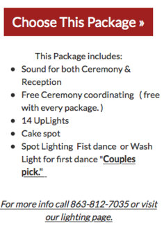 Gold wedding package link