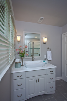 Basement bathroom gets a wonderful facelift
