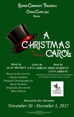 RCT Presents: A Christmas Carol @ Dixie Center for the Arts