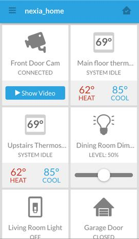 American Standard 950 nexia, home automation, security, monitoring