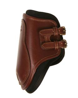 Removable liner leather boot with buckles