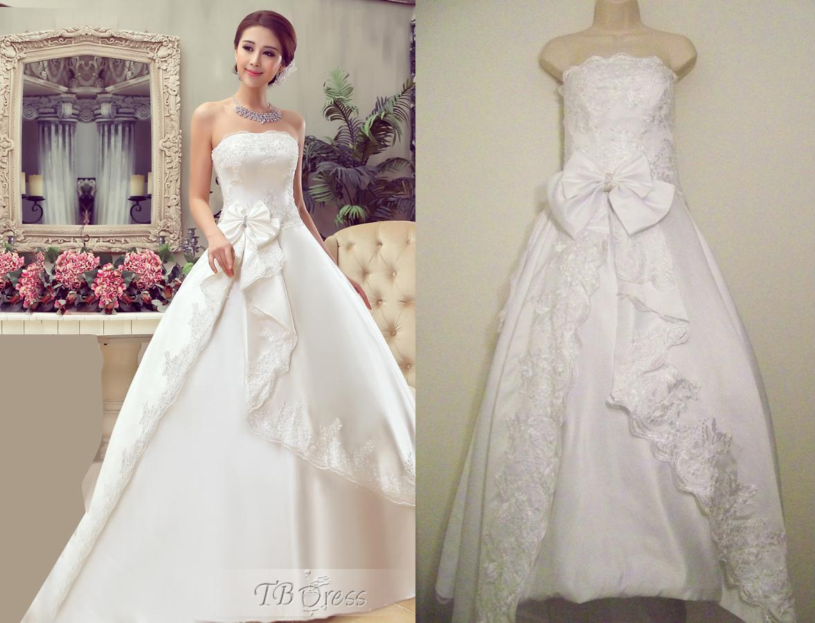 Brides Custom Dresses For Many Reasons Different Color Lower Price Etc This Petite Bride Would Have Paid A Fortune In Alterations Fees Had She Purchased